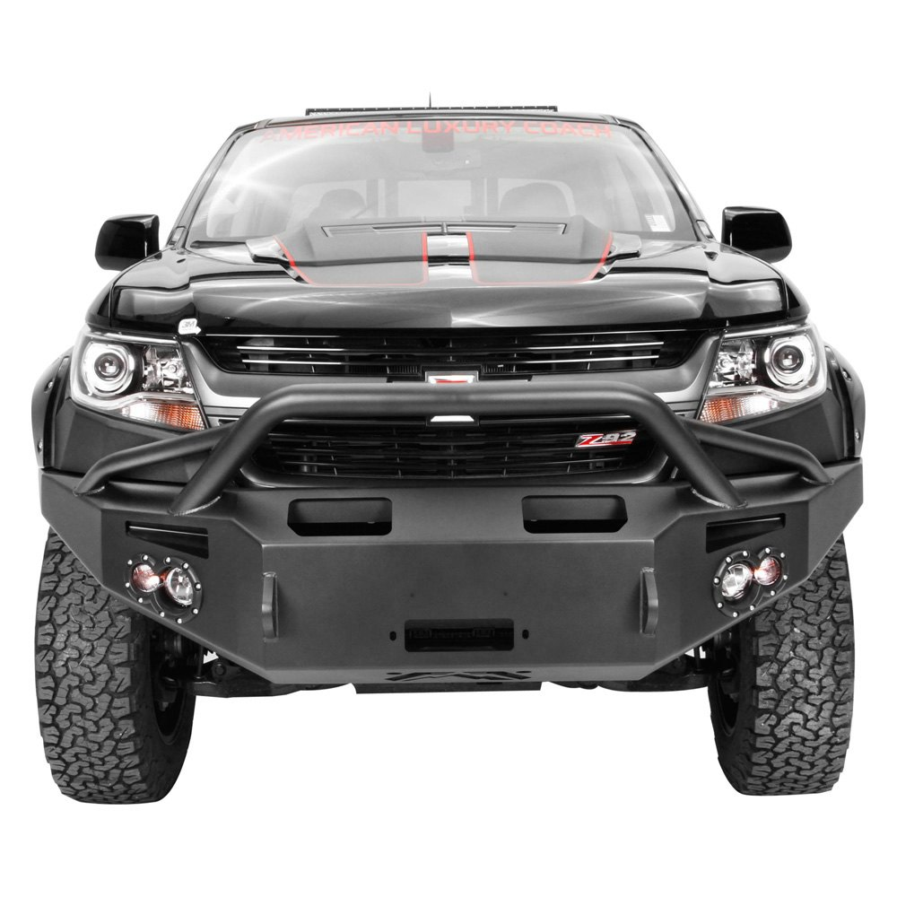 fab fours chevy colorado 2015 2016 premium full width front hd winch bumper with pre runner guard. Black Bedroom Furniture Sets. Home Design Ideas