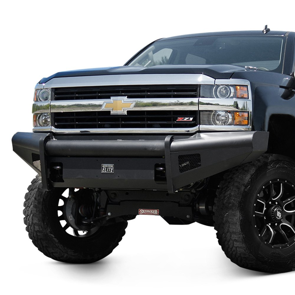 fab fours chevy silverado 2500 hd 2003 2006 black steel elite full width front hd bumper. Black Bedroom Furniture Sets. Home Design Ideas