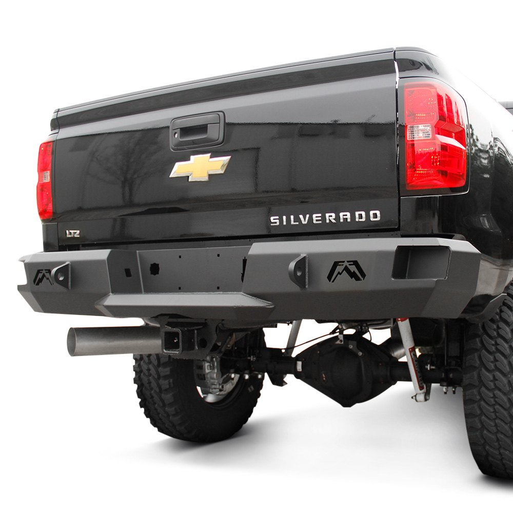 Fab Fours Premium Grille Guard Front Bumper Chevy Silverado Fab Fours® - Chevy Silverado 2016 Premium Full Width Front Winch HD ...