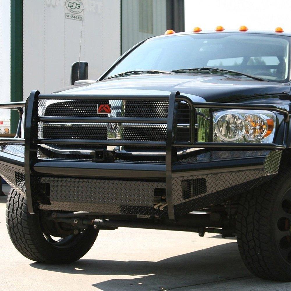 2006 2008 Dodge Ram 1500 2500 3500 Smoke Front Bumper: Dodge Ram 2006-2007 Black Steel Full Width