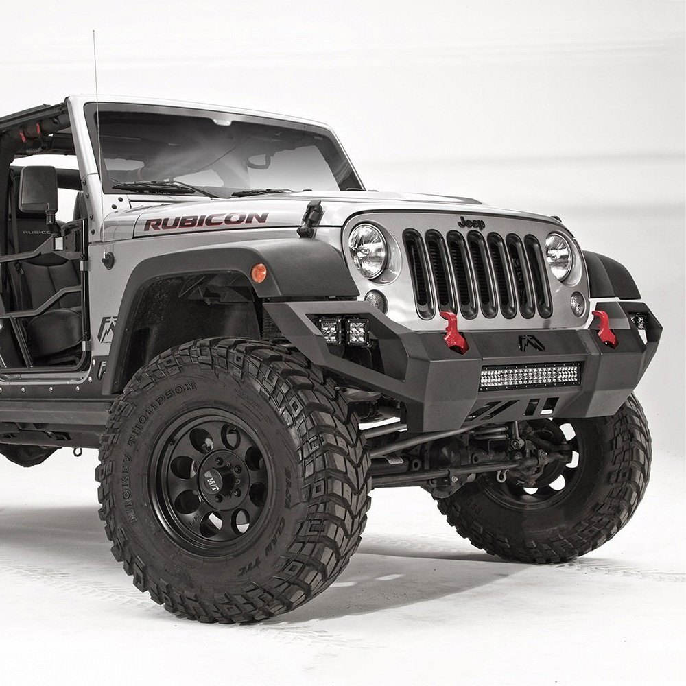 fab fours jeep wrangler 2007 2017 vengeance full width front hd bumper. Black Bedroom Furniture Sets. Home Design Ideas