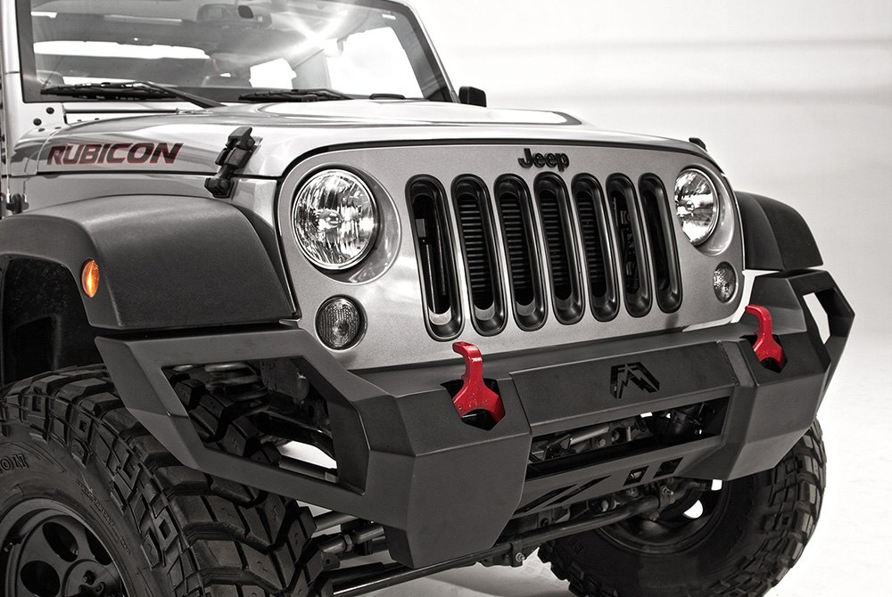 fours jeep wrangler 2007 2016 vengeance full width front hd bumper. Cars Review. Best American Auto & Cars Review