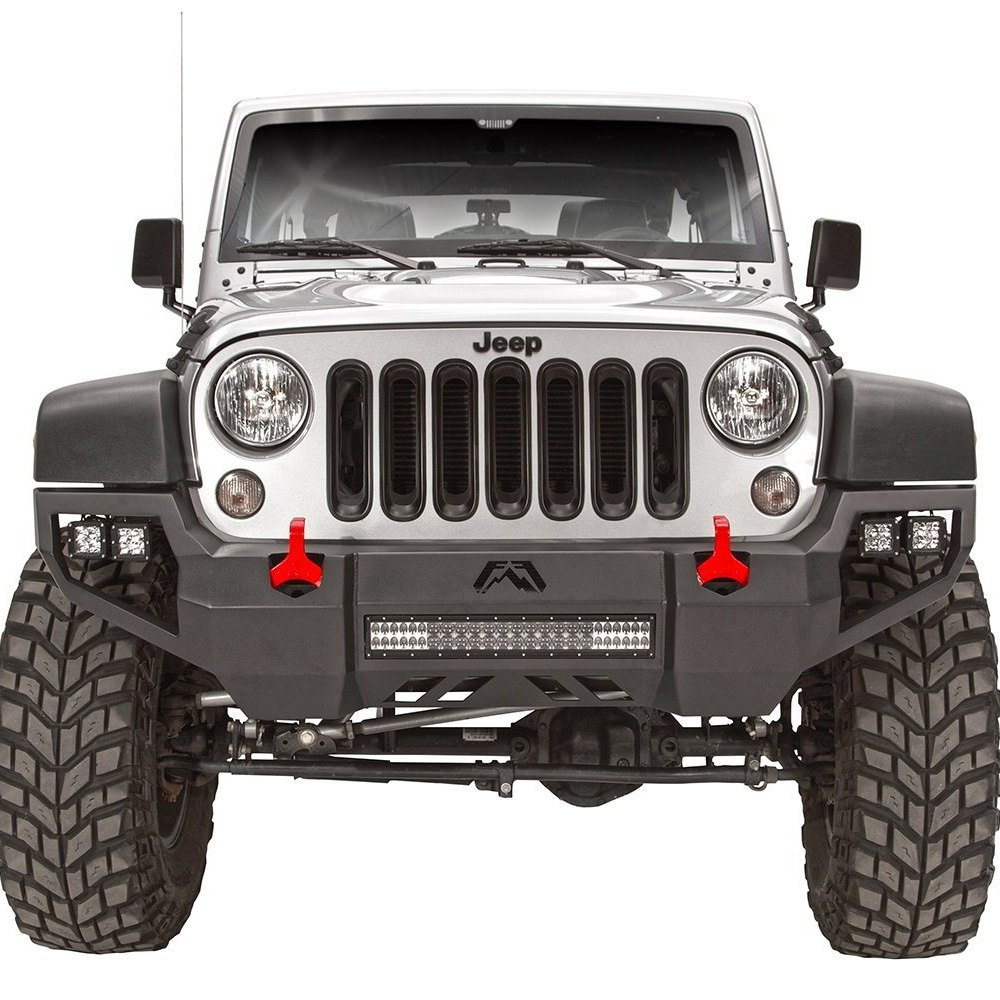 Front Black Steel Bumper