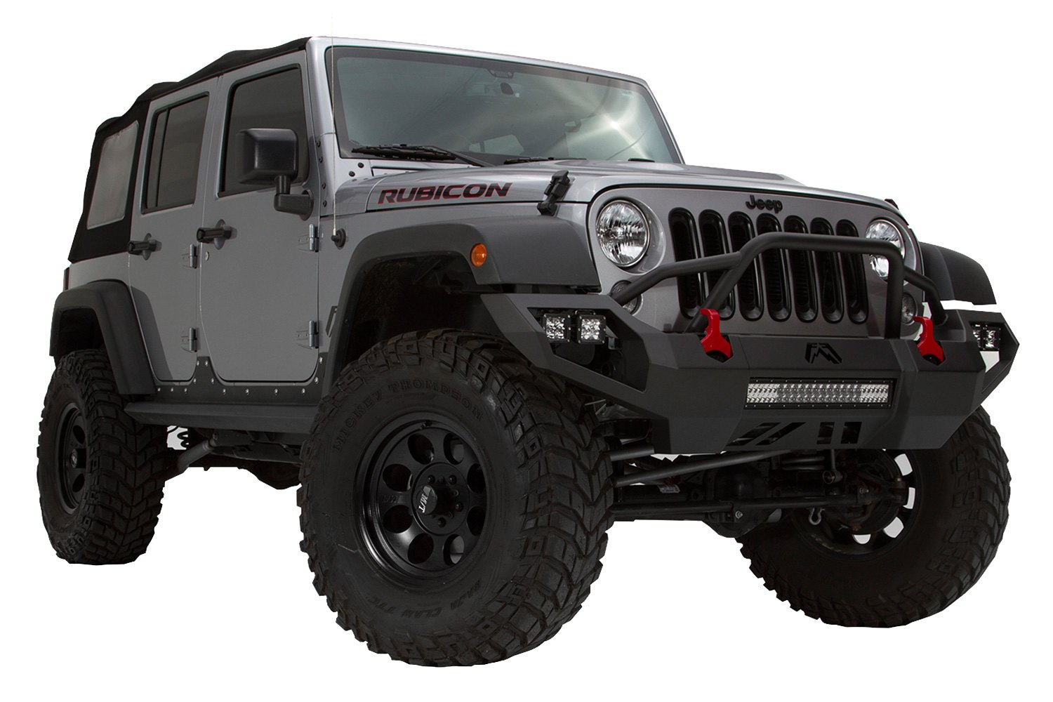 2012 Wrangler Bumper >> Fab Fours® - Jeep Wrangler 2012 Vengeance Full Width Front HD Bumper with Pre-Runner Guard
