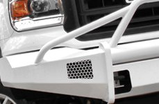 Fab Fours™ Off-Road Bumper on White GMC Truck