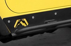 Fab Fours™ Rock Sliders on Yellow Wrangler