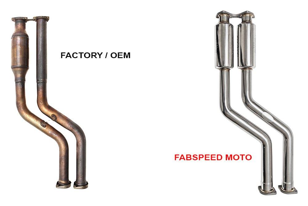 Fabspeed® FS BMW E46 CB - Catless Pipes