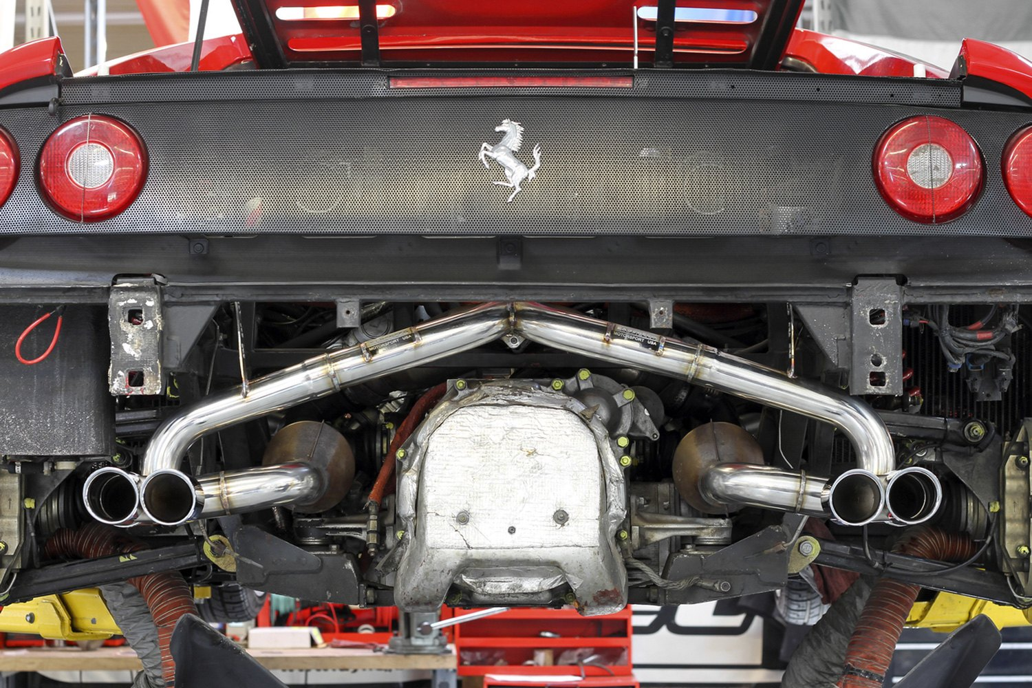 Fabspeed Ferrari F355 1997 Race Exhaust System With Quad Rear Exit
