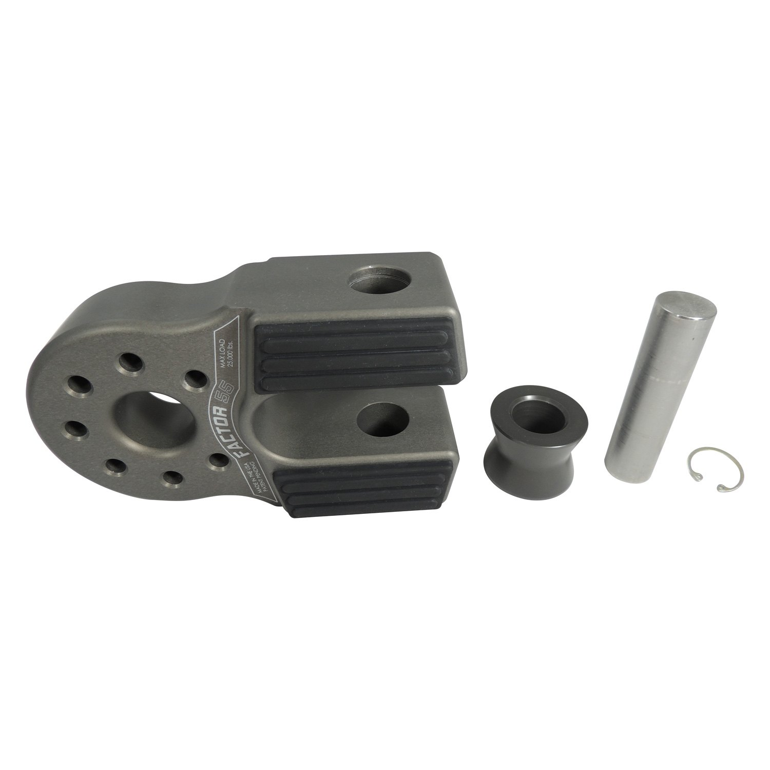 Factor 55 00090-06 FlatLink XXL Winch Shackle Mount Assembly Anodized Gray