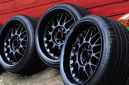 FALKEN® - Tires Outside on Black Rims
