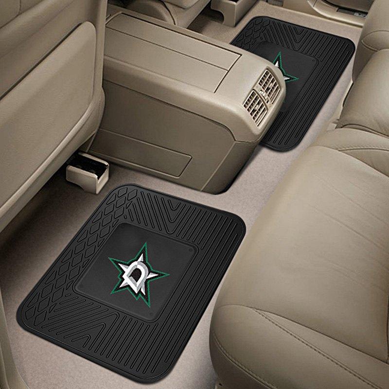 fanmats 12420 2nd row heavy duty vinyl car mats with dallas stars logo. Black Bedroom Furniture Sets. Home Design Ideas