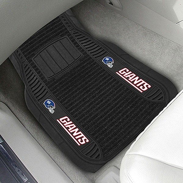 fanmats 13790 1st row black deluxe vinyl car mats with new york giants logo. Black Bedroom Furniture Sets. Home Design Ideas