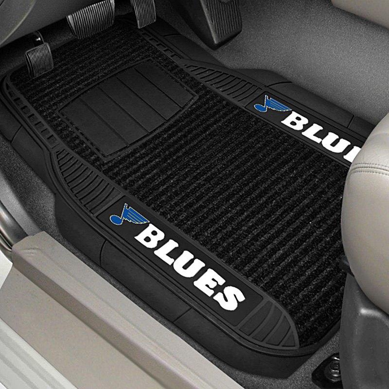 fanmats 13862 1st row black deluxe vinyl car mats with st louis blues logo. Black Bedroom Furniture Sets. Home Design Ideas