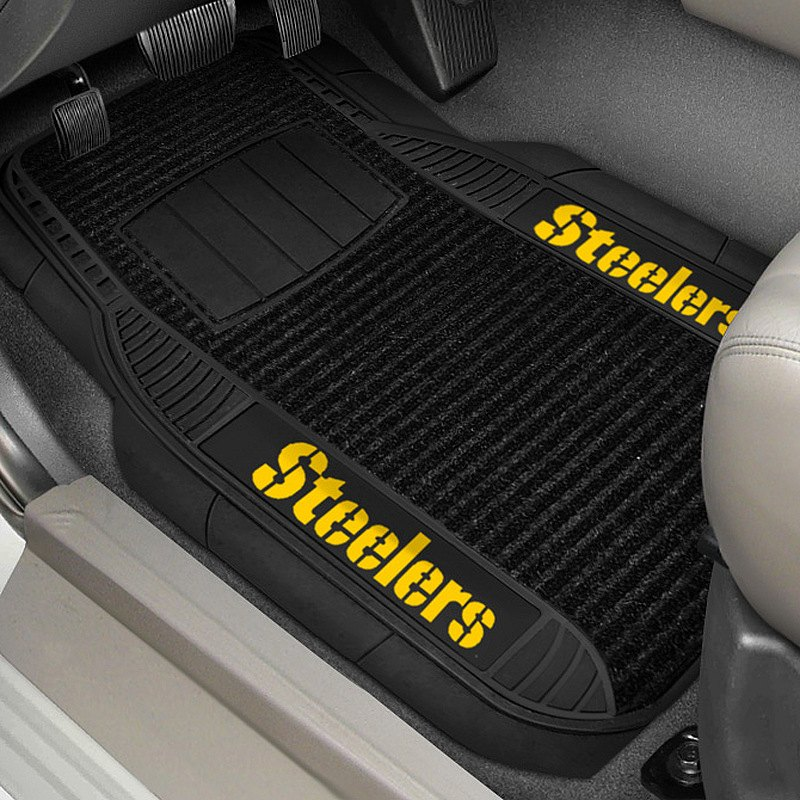 Fanmats 17391 1st row deluxe vinyl car mats with for Floor 2 pittsburgh