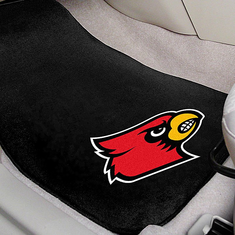 fanmats 17602 university of louisville logo on embroidered floor mats. Black Bedroom Furniture Sets. Home Design Ideas
