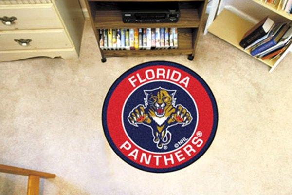 Florida Panthers Logo On Roundel Mat