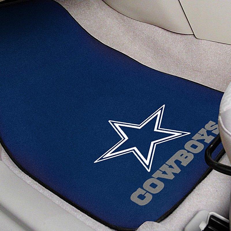 Fanmats 174 5724 Blue Carpet Mats With Dallas Cowboys Logo