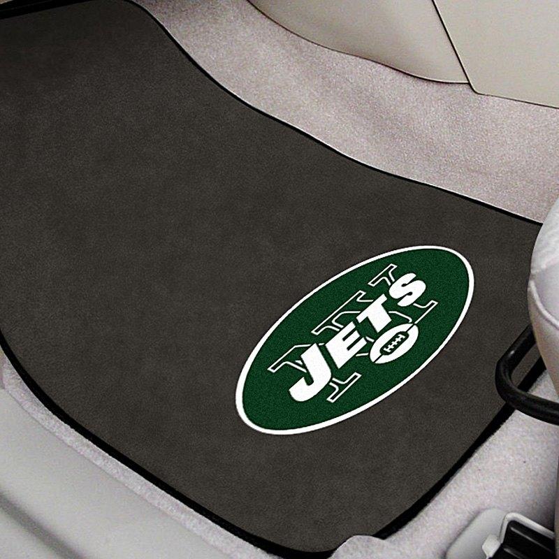fanmats 5811 gray carpet mats with new york jets logo
