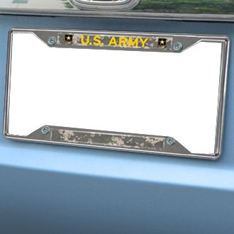 fanmats military license plate frame with us army - Military License Plate Frames