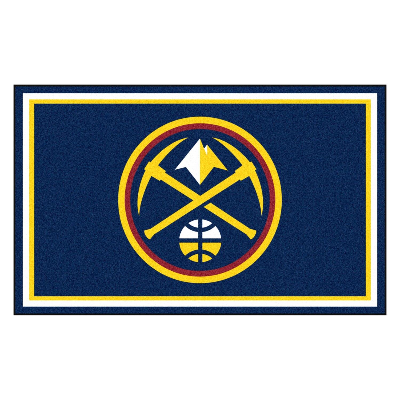 Fanmats denver nuggets logo on 4x6 area rug