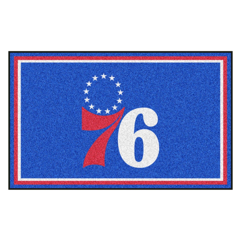 Fanmats philadelphia 76ers logo on 4x6 area rug