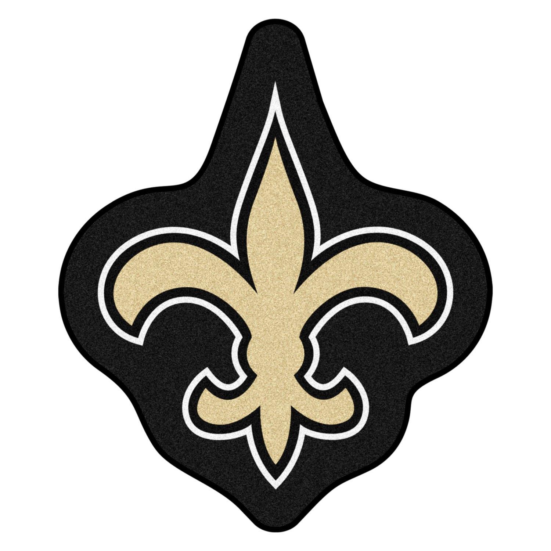 Fanmats 174 20979 New Orleans Saints Logo On Mascot Mat