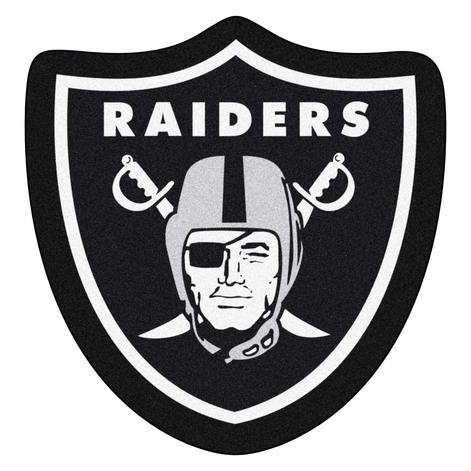 Fanmats 174 20982 Oakland Raiders Logo On Mascot Mat