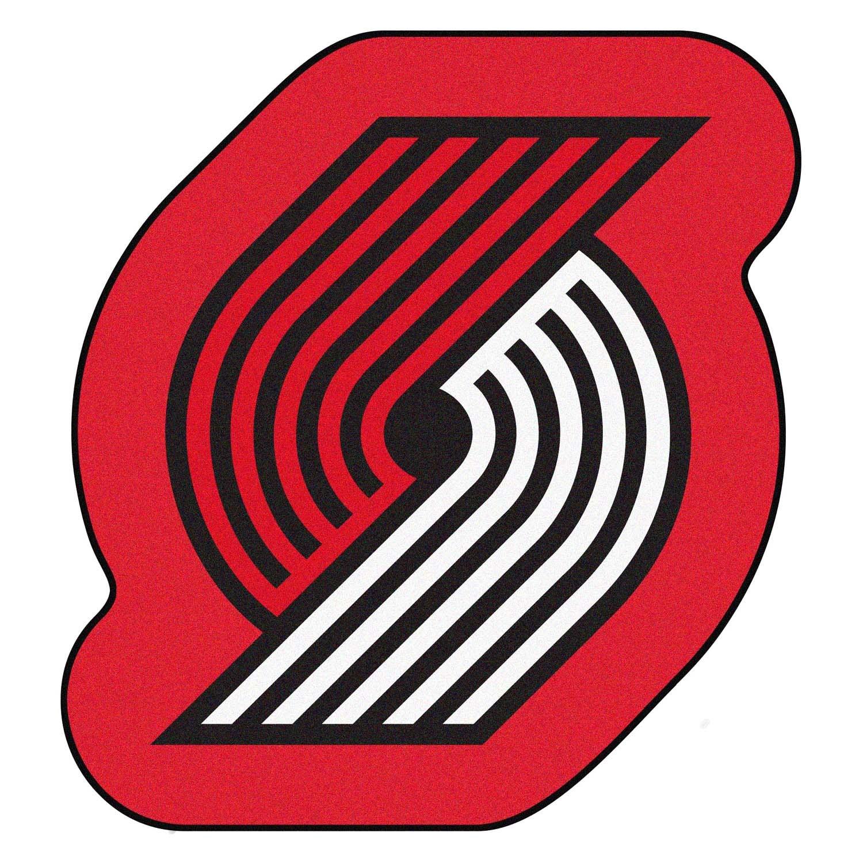 Blazers Mascot: Portland Trail Blazers Logo On Mascot Mat