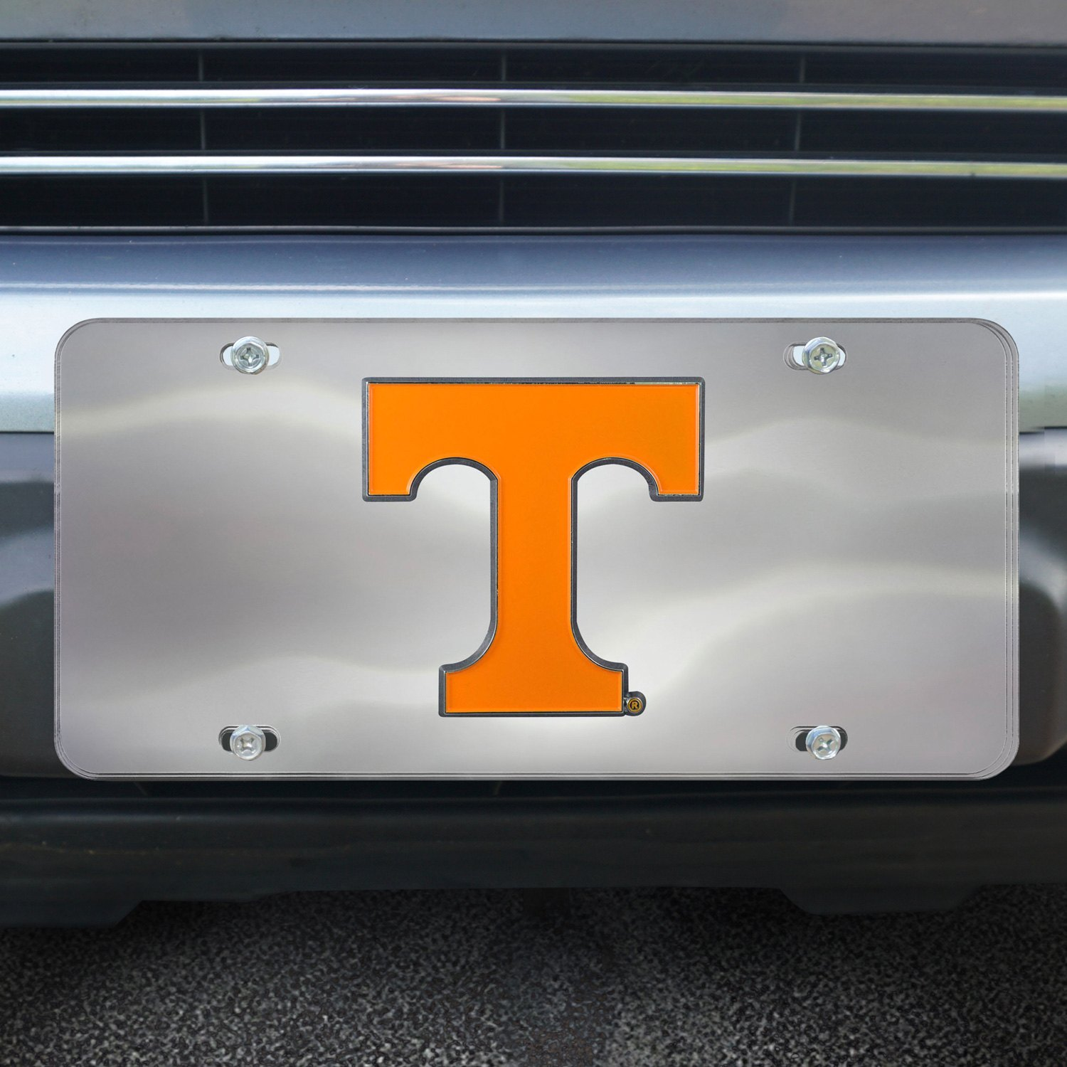 FanMats® 24522 - Collegiate Chrome License Plate with University of  Tennessee Logo