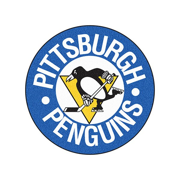 Fanmats 174 11052 Pittsburgh Penguins Logo On Hockey Puck Mat
