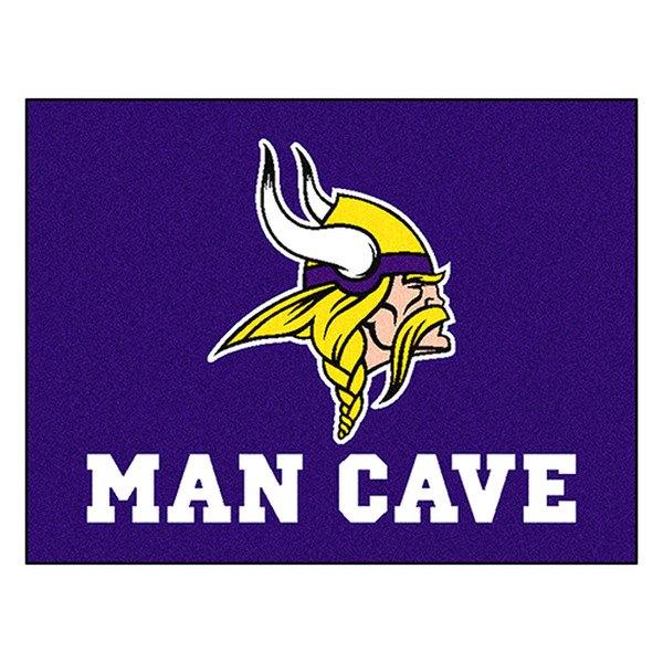 Man Cave Signs Vikings : Fanmats minnesota vikings logo on man cave all