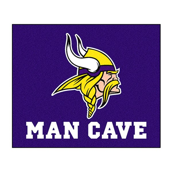 Man Caves Mn : Fanmats minnesota vikings logo on man cave