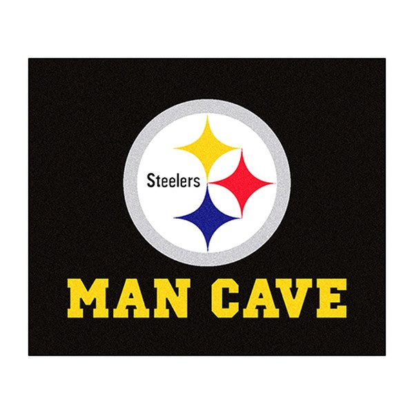 FanMats® 14359 - Pittsburgh Steelers Logo on Man Cave ...