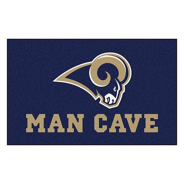 Man Cave Logo : Fanmats� st louis rams logo on man cave ultimat
