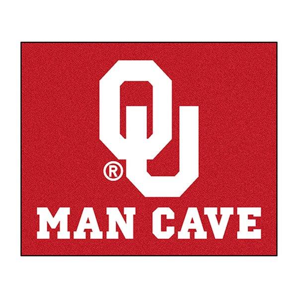 Fanmats 14686 university of oklahoma logo on man cave for Parquet mat ou satine