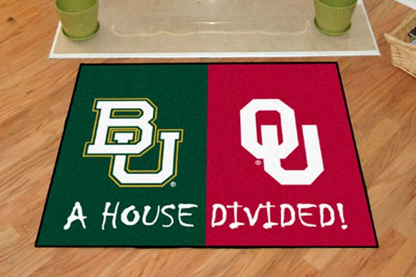 Fanmats 16218 baylor and oklahoma on house divided for Parquet mat ou satine