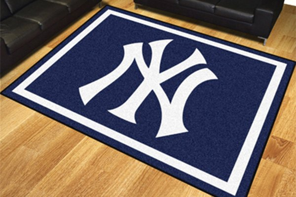 Fanmats 17429 new york yankees on 8x10 area rug for Area rugs new york