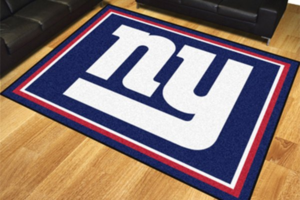 Fanmats 17491 new york giants on 8x10 area rug for Area rugs new york