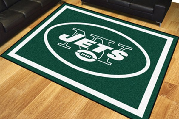 Fanmats 17492 new york jets on 8x10 area rug for Area rugs new york