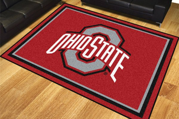 Fanmats 174 17535 Ohio State University On 8x10 Area Rug