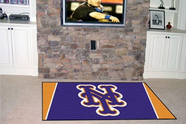 Fanmats 7072 new york mets on 5x8 area rug for Area rugs new york