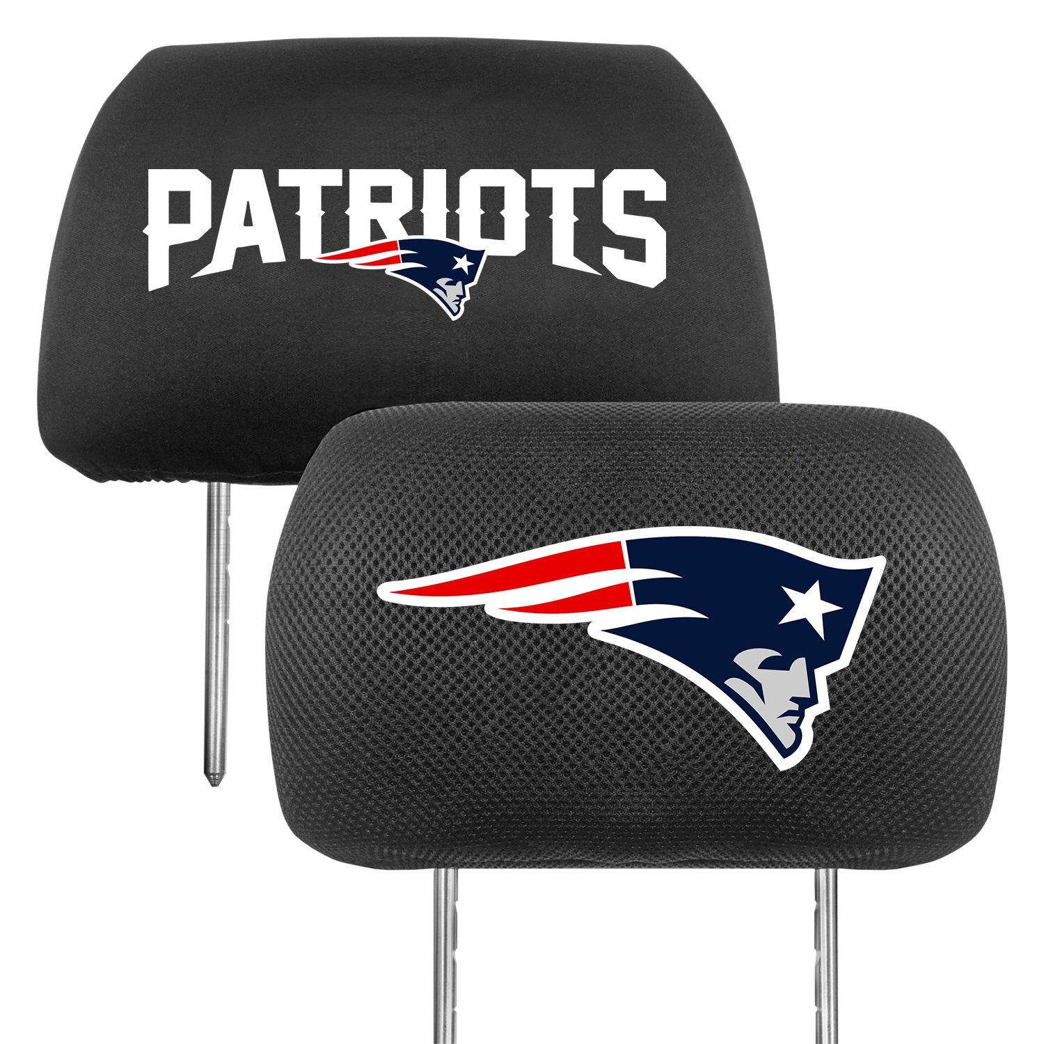Fanmats 174 12506 Headrest Covers With New England Patriots