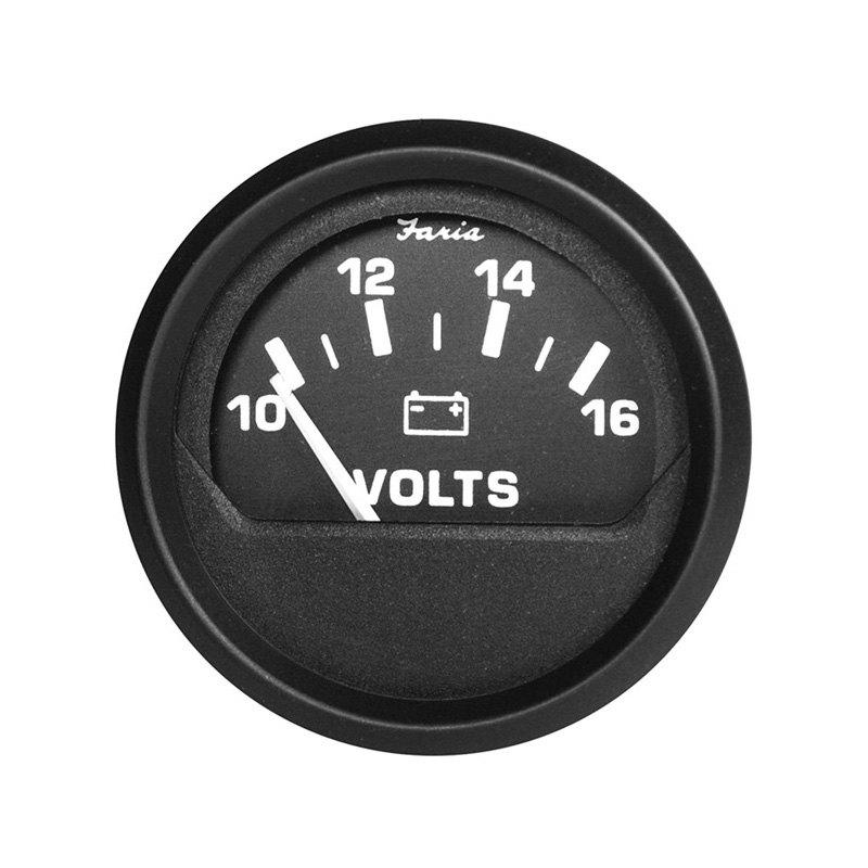 Voltmeters In Dash : Faria beede instruments euro in dash voltmeter gauge
