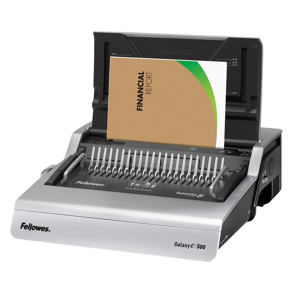 fellowes electric comb binding machine