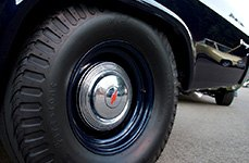 FIRESTONE® - Dragster Tires on Car