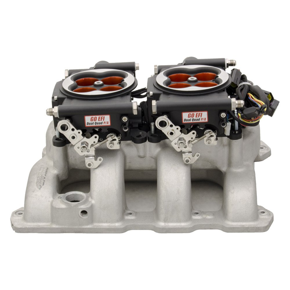 FiTech® 30064 - Go EFI 2x4 Dual-Quad Power Adder 1200 HP Fuel Injection  System