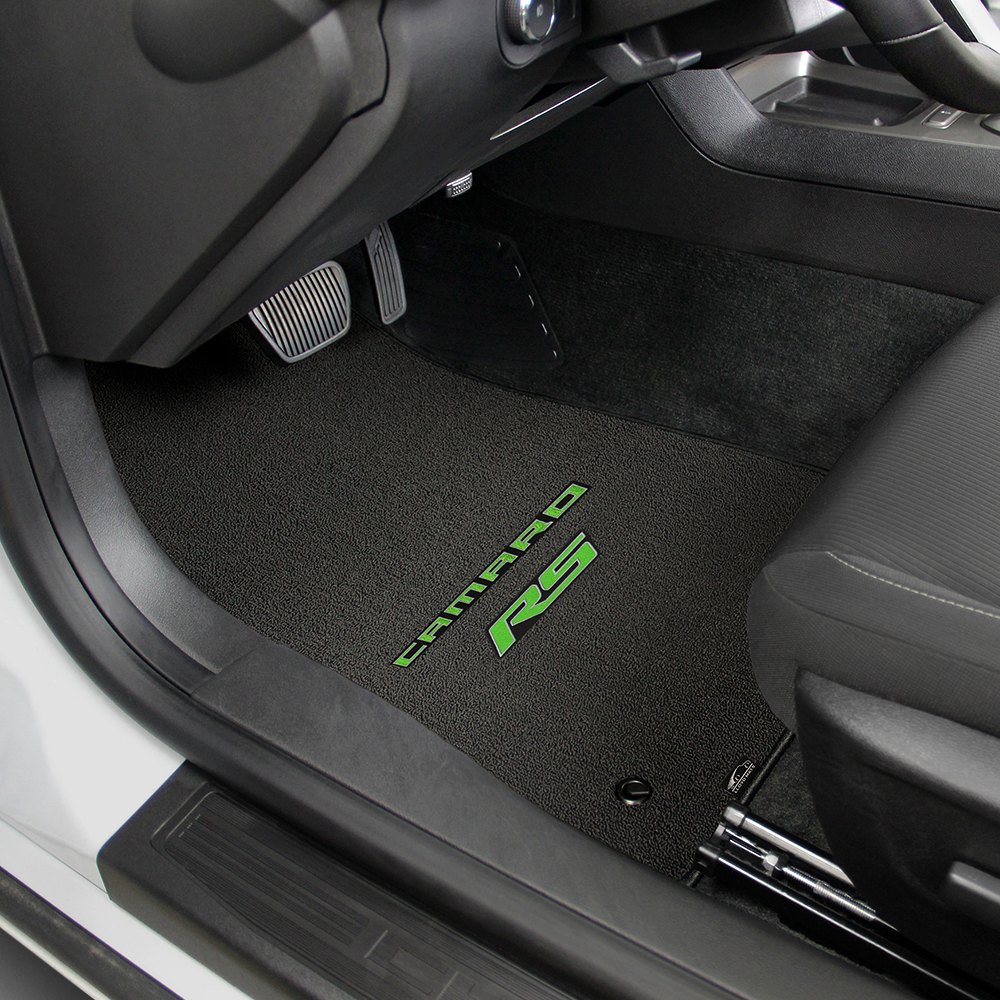 aluminum back diamond mat custom mats front products o floor plate camaro shaped set