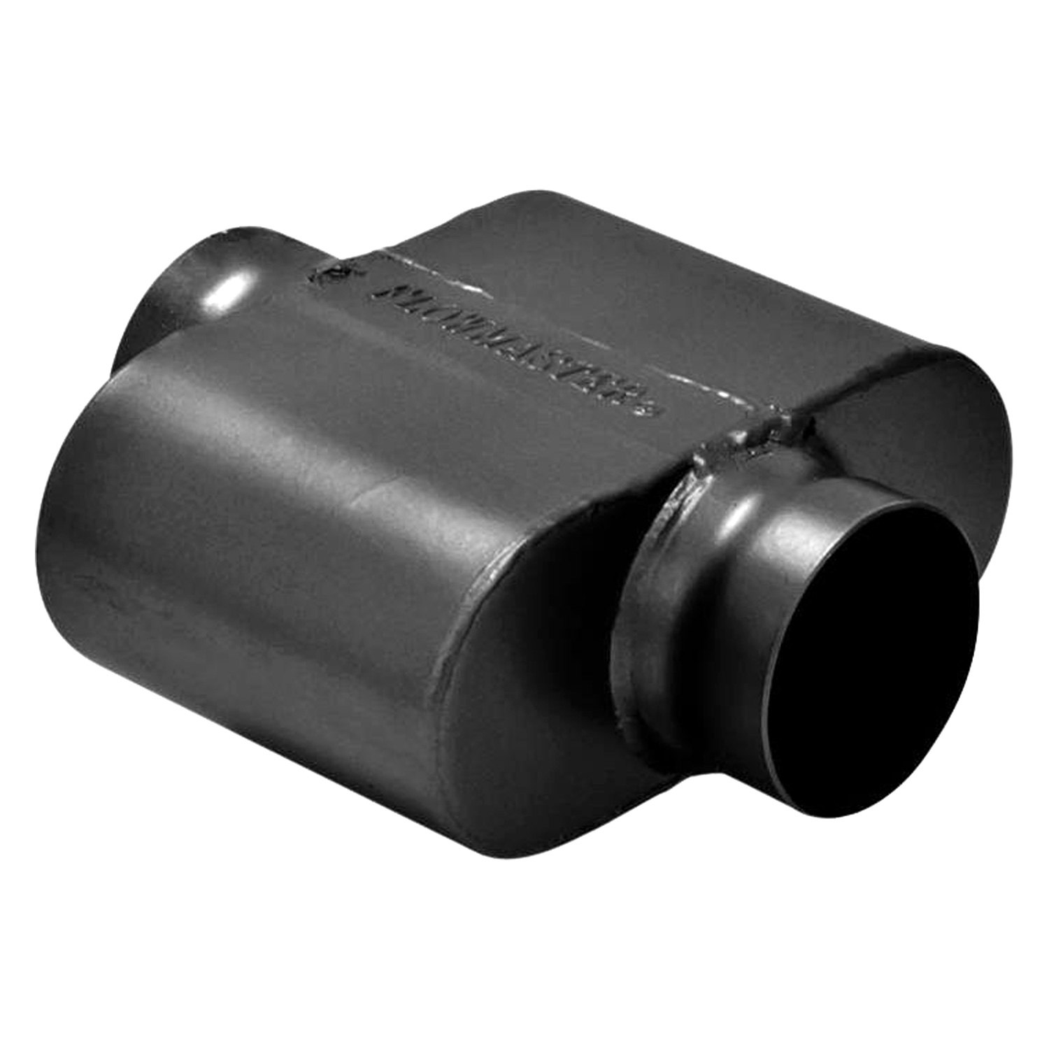 "PER-101 Single 1 One Chamber Race Muffler 3"" Offset Inlet & Outlet ..."
