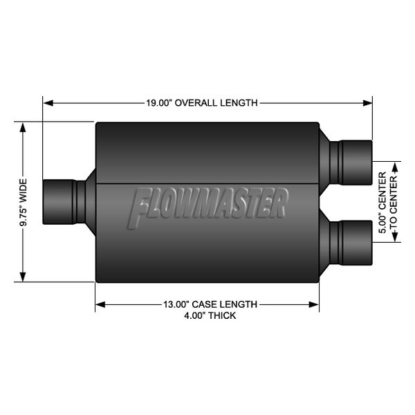 Delta Flow Muffler Flowmaster 843048 TM Exhaust Muffler-Super 44