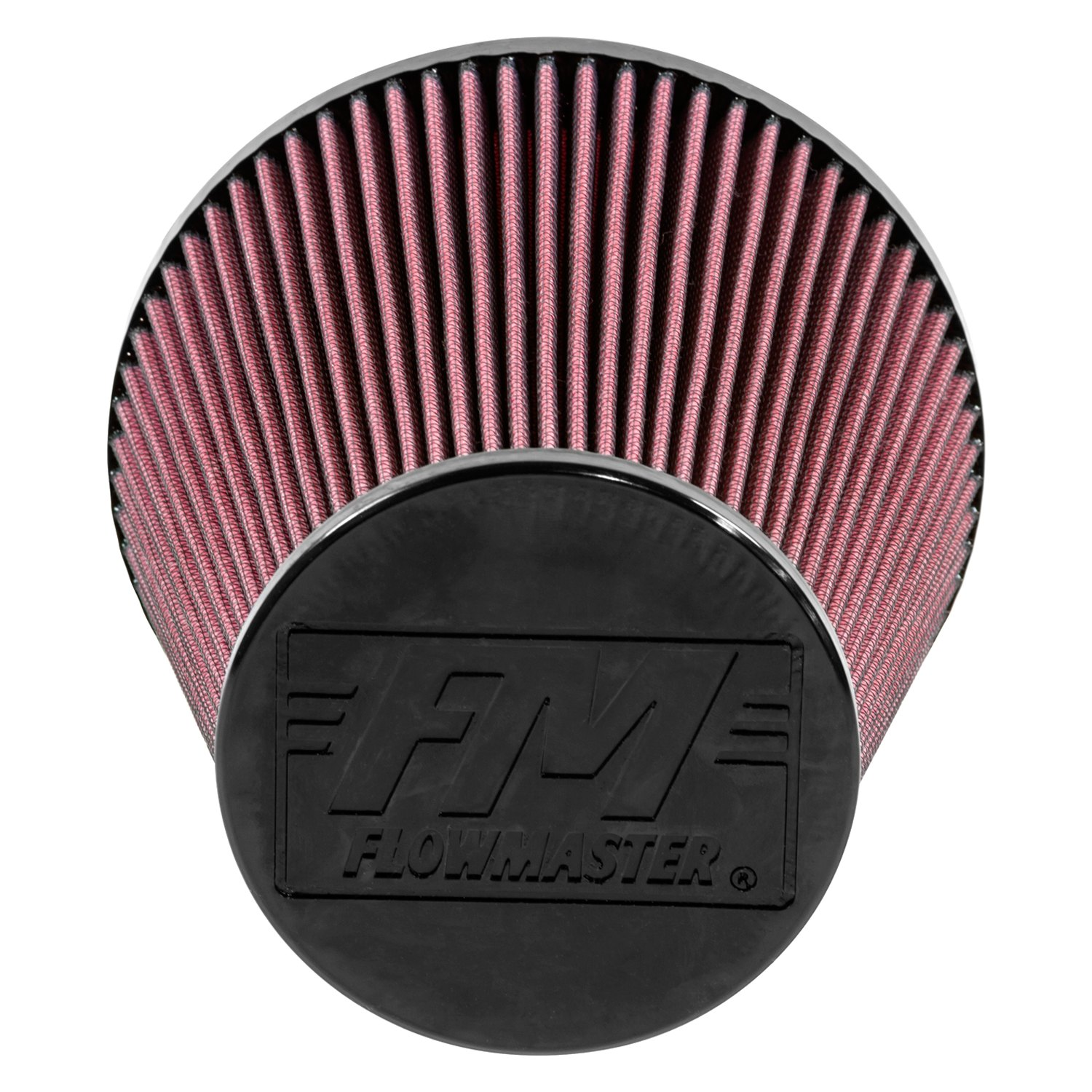 Delta Air Cleaner Filters : Flowmaster delta force oiled round tapered red air filter